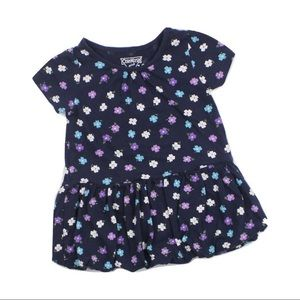 Osh Kosh Navy Floral Dress, Size 12 M